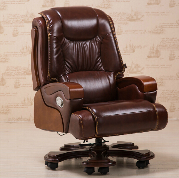 Domestic High Grade Leather Boss Chair Chair Massage Can Lay Computer Chair  Leather Of Large Chair, Chair In Office Chairs From Furniture On  Aliexpress.com ...