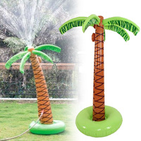 Lawn Water Sprinkler Inflatable Fun Toy Coconut Tree Decoration for Outdoor Party YH 17