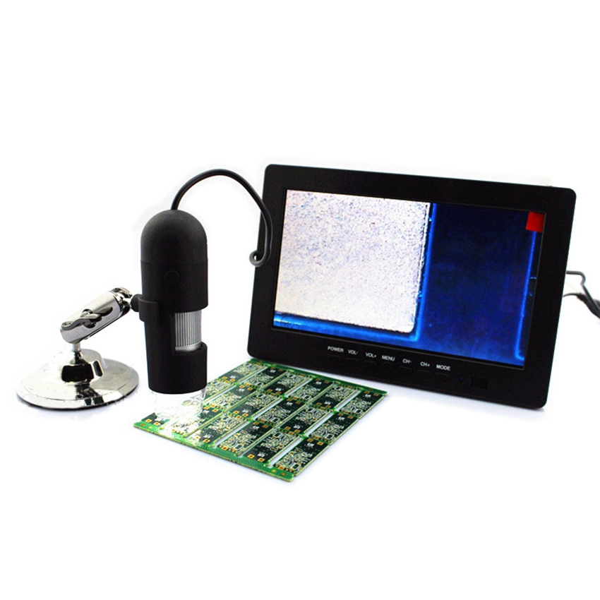 Portable 20X-400X Skin and Hair Zoom Magnifier AV Electronic Digital Microscope with 7