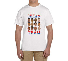 Dream Team T-Shirt 100% cotton t shirts Mens boyfriend gift T-shirts for usa fans 0215-4