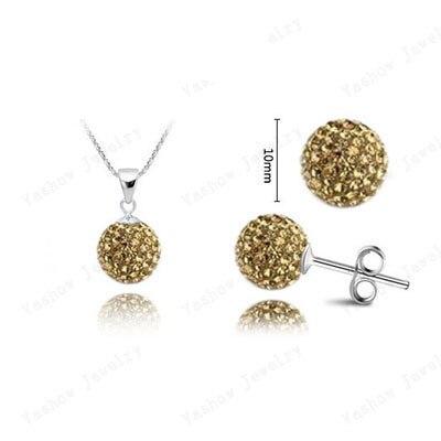 yikln ювелирные изделия шамбалы устанавливает 10 мм микро проложить cz дискотечный шар бисер Дата добавления шамбалы ожерелье и серьги ювелирные изделия шамбалы shse51