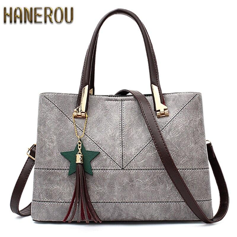Fashion 2018 PU Leather Shoulder Bag Ladies Autumn Handbags Famous Brands  Women Black Saffiano Tote Bag New Casual Women Bag fcccb3065e640