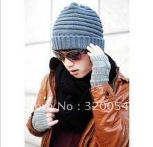 Free shipping 1PCS 2013 NEW The autumn winter fashionable men's and women's warm hat Fashion knitting caps wholesale 3 color