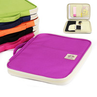 A4 Folders Document Bags Multi functional Filing Product Portable oxford Waterproof Storage Bag for Notebooks Pens Computer Ipad
