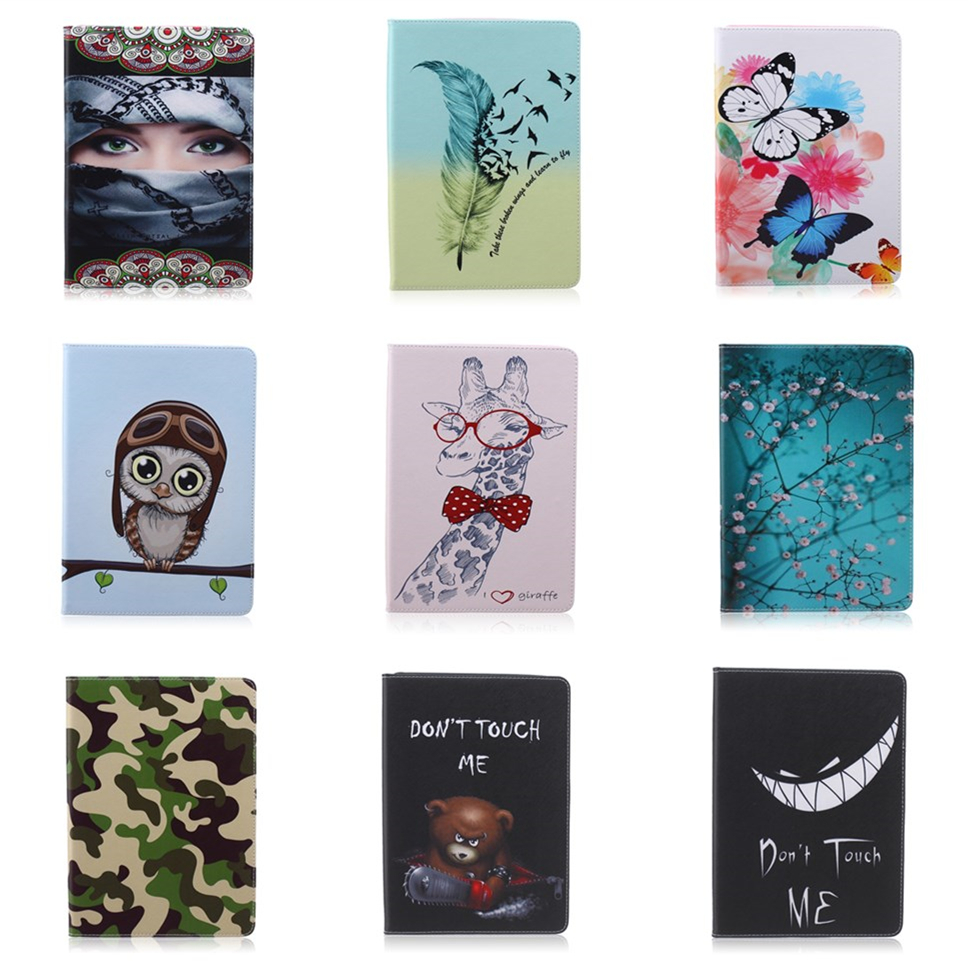 Fashion Painted Flip PU Leather Cover Case For Samsung Galaxy Tab S2 9.7 T810 T815 SM-T815 9.7 Tablet Smart Cover Sleeve