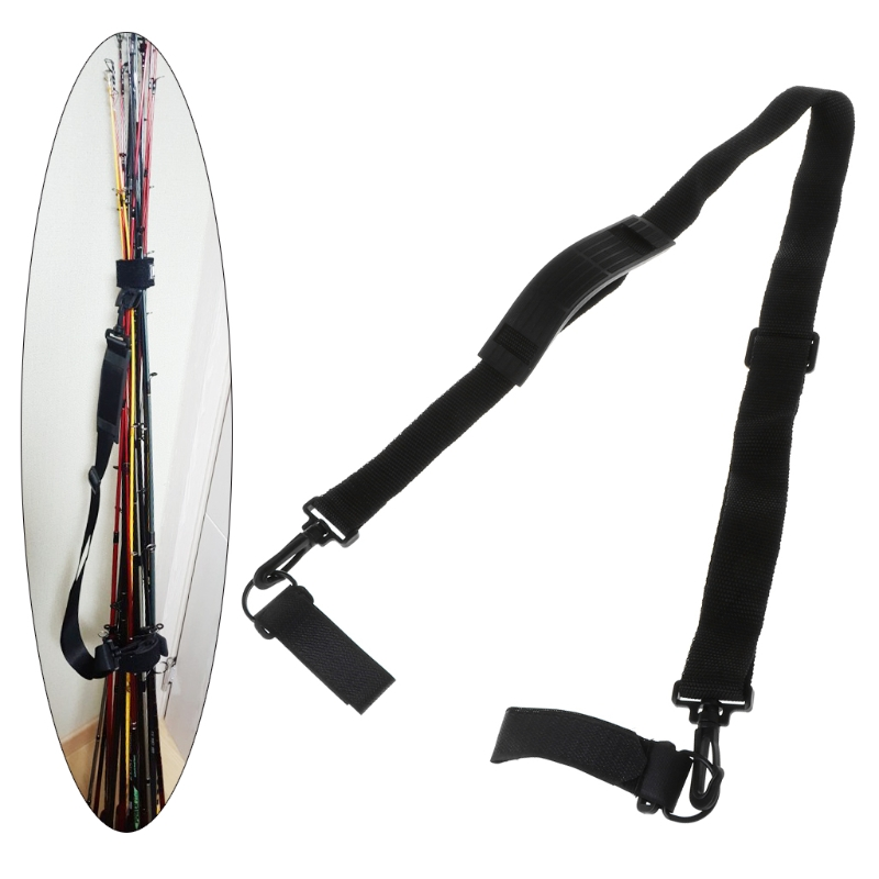 Travel-Holder-Accessories Fishing-Rod-Belt Carry-Strap-Band Portable New Outdoor 1-Pc