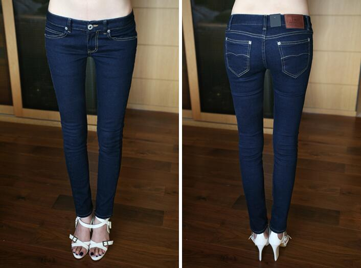 2020 new spring and autumn cotton office brand lades female women girls low waist stretch pencil pants   jeans   clothes 79433