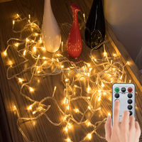 Battery Powered 10M 33FT 100 LED PVC Wire Christmas String Fairy Lights 8 Modes Remote Control