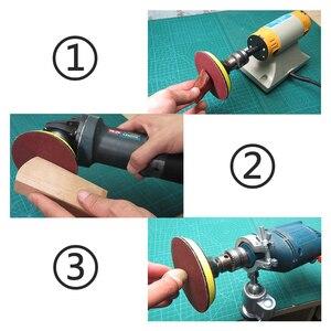 Image 5 - Абразивные шлифовальные насадки 50 шт., 2 Дюймовая красная круговая наждачная бумага 60/80/120/150/180 + 1 шт., пластина с липучкой, подходит для Dremel