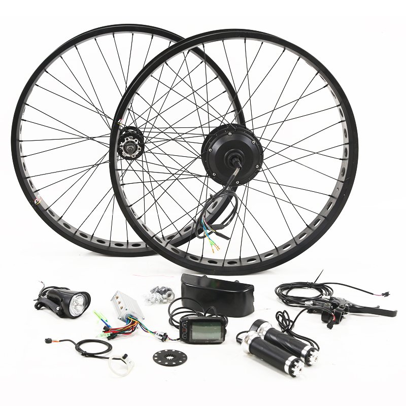 Fat BIKE 36V 350W Motor Wheel Electric Bike Kit Electric Bicycle Conversion Kit for 26 inch Rear Wheel Motor Brushless Gear Hub