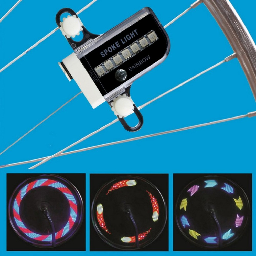 14 LED Cycling Bicycle Bike Wheel Signal Tire tyre Spoke Light 30 Changes Bike Light Lamp free shipping