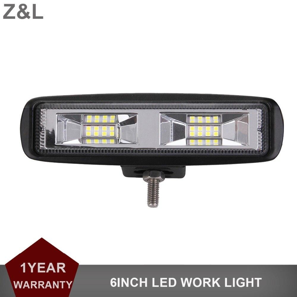 6 INCH LED WORK LIGHT BAR FLOOD DRIVING LAMP SUV MOTORCYCLE CAR TRUCK TRAILER PICKUP VAN CAMPER RZR 4WD ATV UTE 12V 24V LIGHT