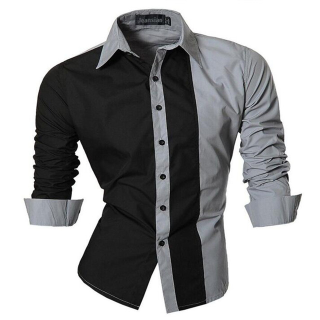 Aliexpress.com : Buy Men Shirt Luxury Brand 2017 Male Long Sleeve ...