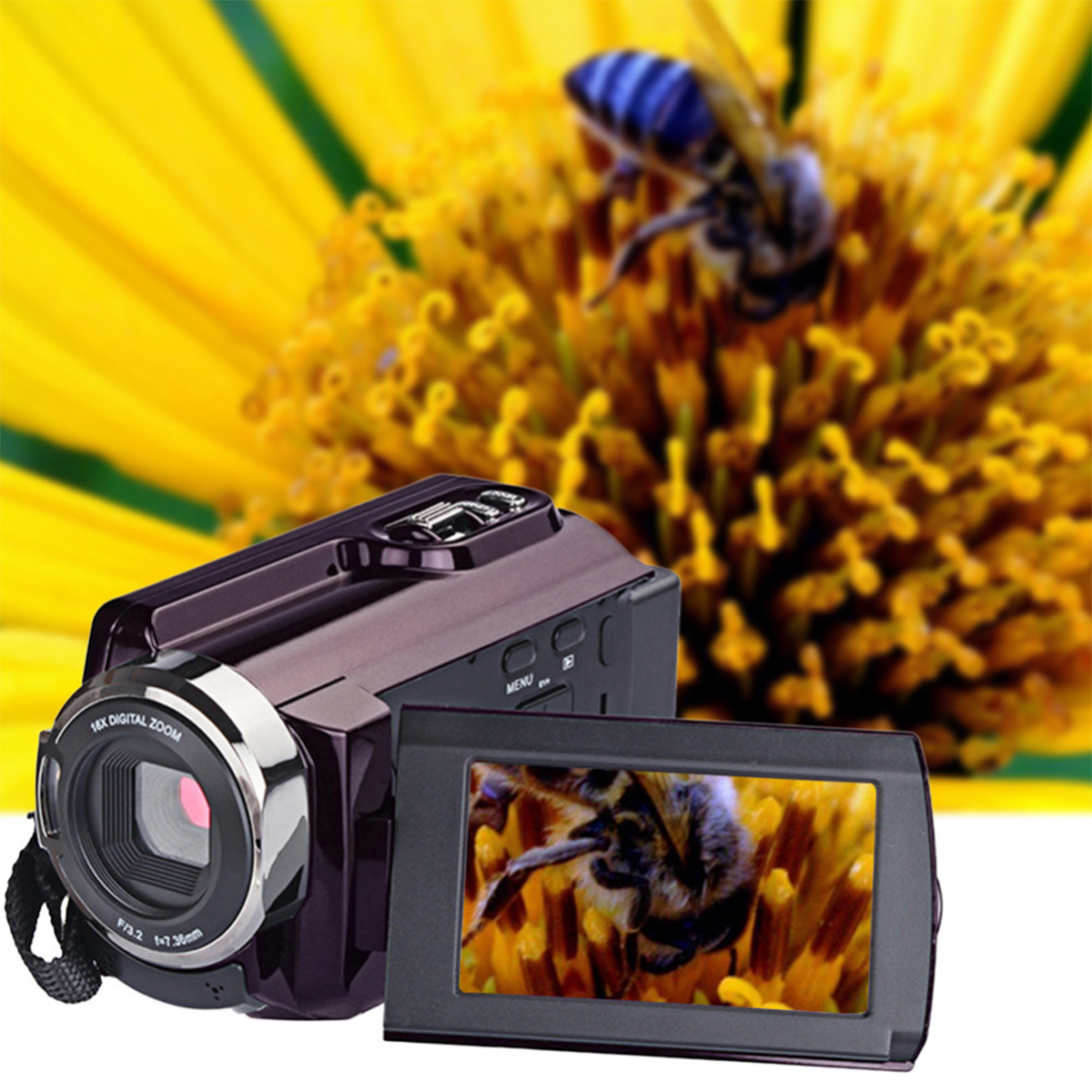 New 4K Camcorder Video Camera Camcorders Ultra HD Digital Cameras and Video Recorder with WifiInfrared Touchscreen Angle Lens