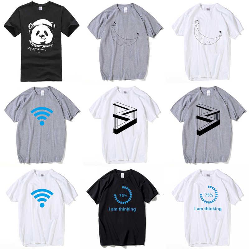 HanHent Забавные футболки мужские летние модные футболки с принтом Луны повседневные футболки с короткими рукавами и круглым вырезом хлопковые топы футболки дропшиппинг 2018