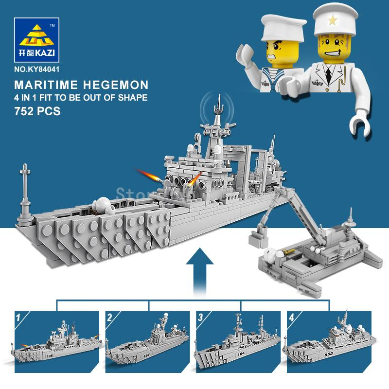 KAZI 84041 Military Destroyer Schlacht Bildungs Bricks Warship ...