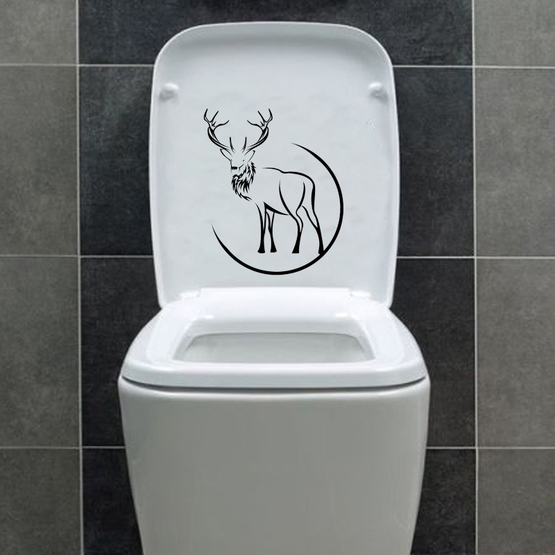 Deer Animal Hunting Home Decor Vinyl Wall Sticker Toilet Decal 6WS0192
