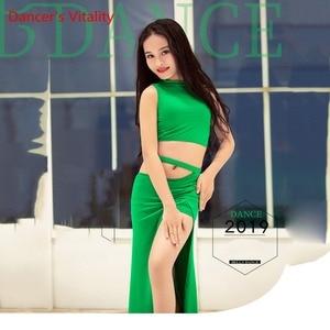 Image 3 - NEW Children Belly Dance Costumes Children Hot Sale Dance Show Clothing Summer Modal Split Skirt Set Free Delivery