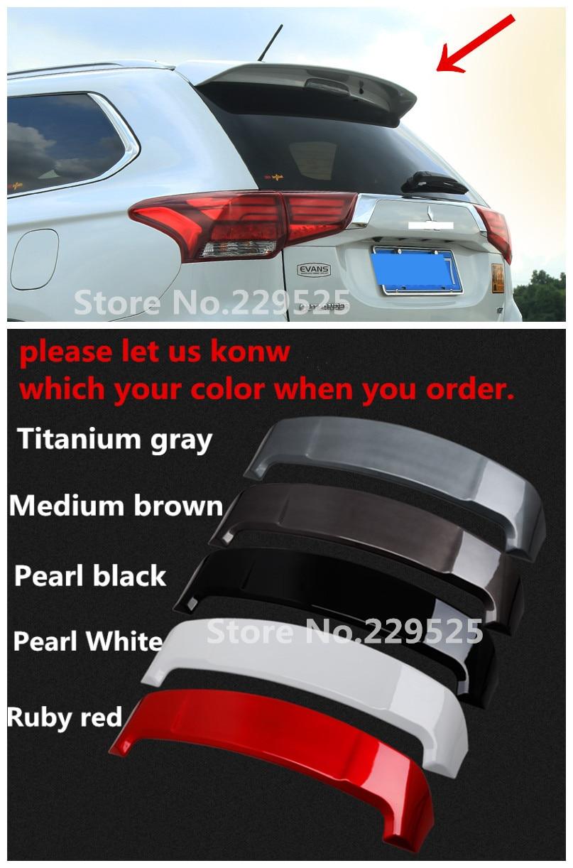 ABS Paint Rear Spoiler Trunk Boot Lip Wing for Outlander Rear Spoiler 2013~2018 Car Styling,Black