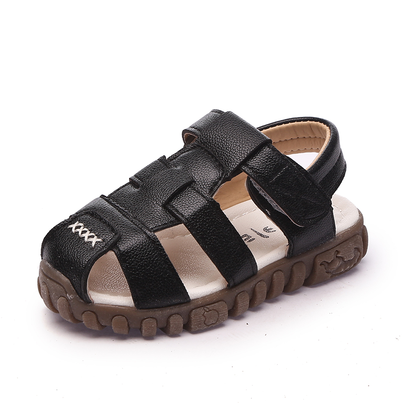 Kids Shoes Boys Sandals 2017 Summer Children Sandals Casual Comfortable Soft Sole Toddler Baby Shoes PU Leather Beach Shoes