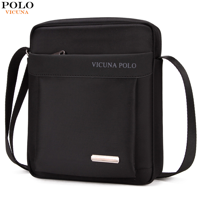 VICUNA POLO Light Weight Oxford Mens Messenger Bags For iPad Durable Fashion Men Shoulder Bag Small Mens Sling Bag Dropshipping