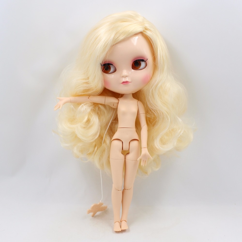 Neo Blythe Doll with Yellow Hair, White Skin, Shiny Face & Jointed Azone Body 4