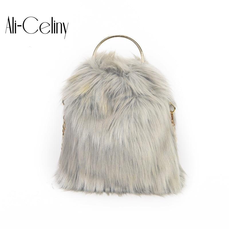 Мода 2017 г. сумка Дизайн искусственного меха ведро сумки высокого качества Для женщин Crossbody круглая ручка Bolsa Feminina Borse