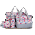 Baby diaper bag mummy bag for mom nappy bags Mulitfunction mother mama Bags maternity fashion 5 piece set free shipping