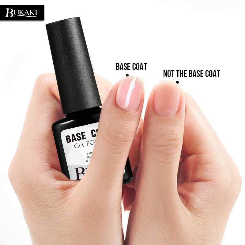 US $0.7 34% OFF|BUKAKI Long Lasting No Clean Top Coat Base Coat UV Gel Nail  Polish Shiny Sealer Manicure Set Soak Off Top Base Nail Primer-in Nail Gel  ...