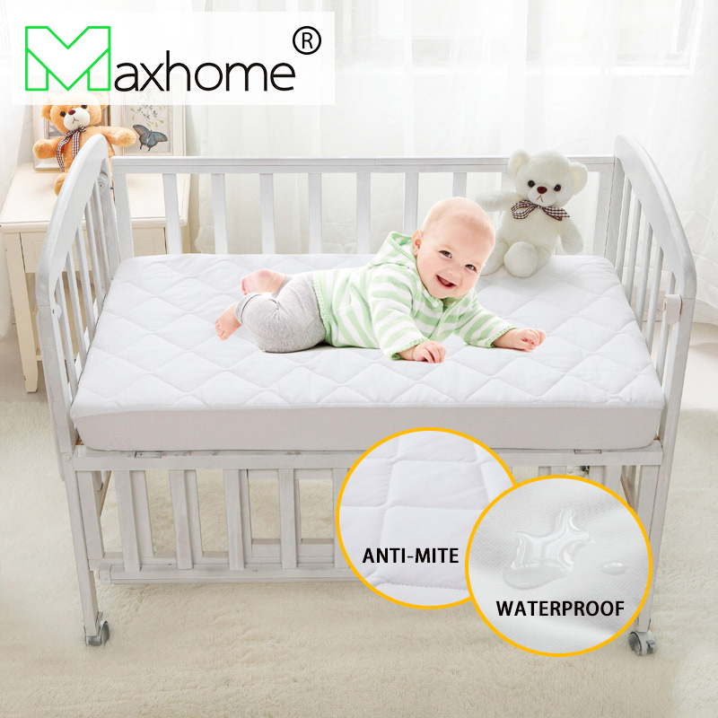 Brushed Fabric Quilted Anti-mite Air-pemeable Waterproof Mattress Cover for Baby 28*52*6inch/71*132*15cm