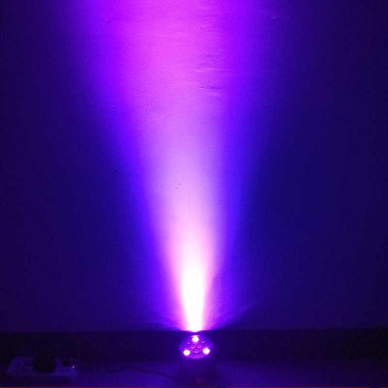 Ножницы светодиодный плоский Par 12x3 W фиолетовый цвет освещение УФ с DMX512 для диско DJ Проектор машина вечерние украшения фиолетовый