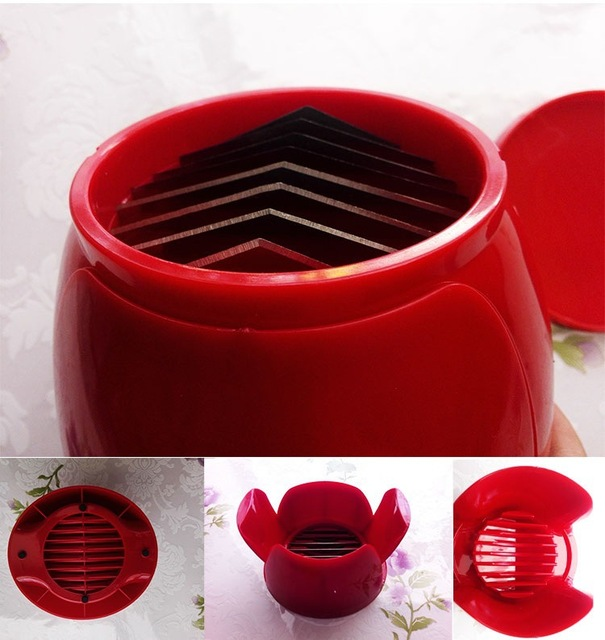 1PC Tomato Slicer Kitchen Gadgets Tools Potato Onion Fruit Vegetable Cutter Cuts Tomato Slicers Holder Slicer Guide OK 0493 4