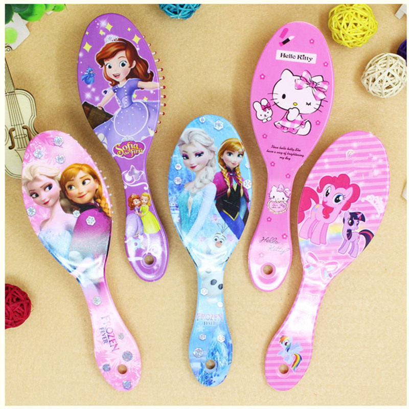 fc4c52d98 1PC Disney Frozen Baby Comb Ice and snow Princess Anna Elsa Snow White Hello  Kitty Hair