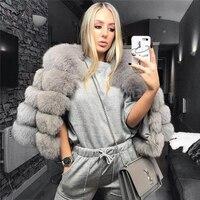 Татьяна furclub Для женщин теплая Настоящий Лисий Мех Пальто короткие зимние натуральная Меховая Куртка Верхняя одежда Пальто с натуральным л