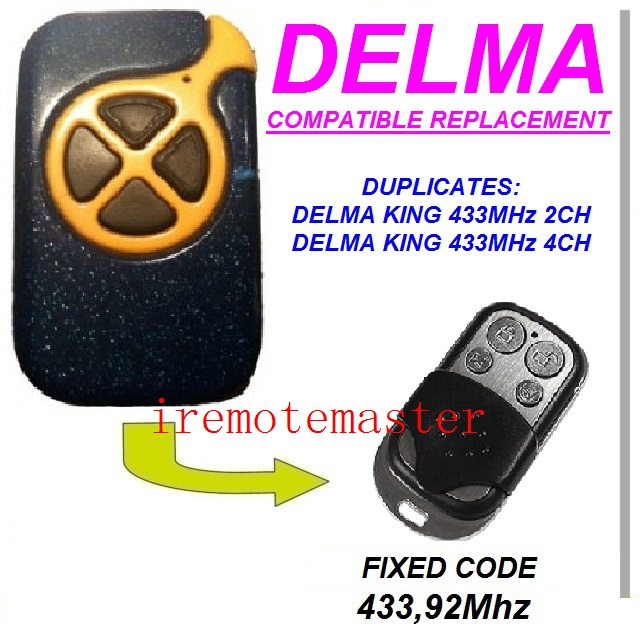For DELMA KING 433MHZ 4CH,DELMA KING 433MHZ 2CH remote replacement