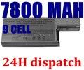 9 células de Reemplazo del Li-ion Batería Del Ordenador Portátil Para Dell Latitude D531 D820 D531N D830 Precision M4300 M65 310-9122 312-0393 312-0401
