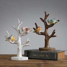 Minimalist Scandinavian style resin bird ornaments Home decorations crafts Figurines birds Wedding gifts home decor