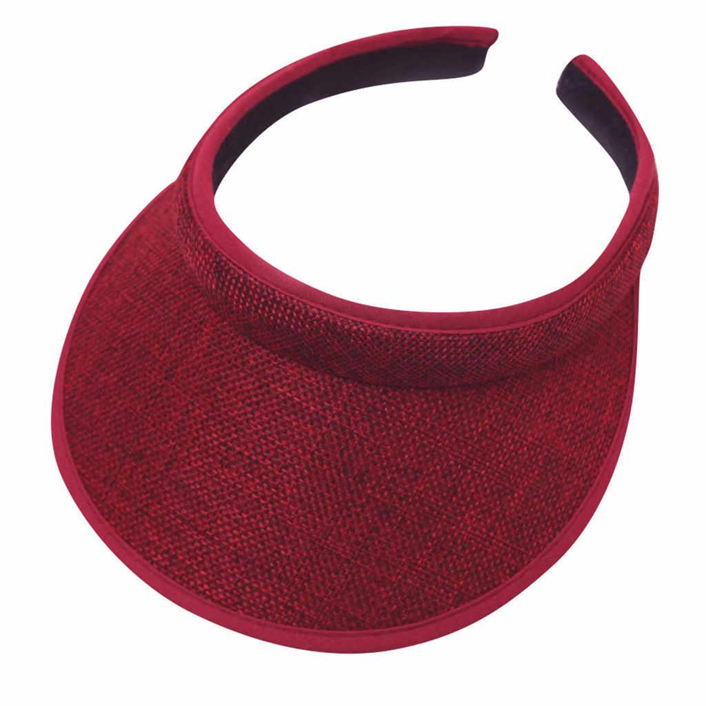 JAYCOSIN 2019 Moda Unisex pamuklu kasket Ayarlanabilir Sıcak Satış Unisex Boş Üst Vizör Kap Kadın Açık Güneş Koruyucu Şapkalar dropshipping