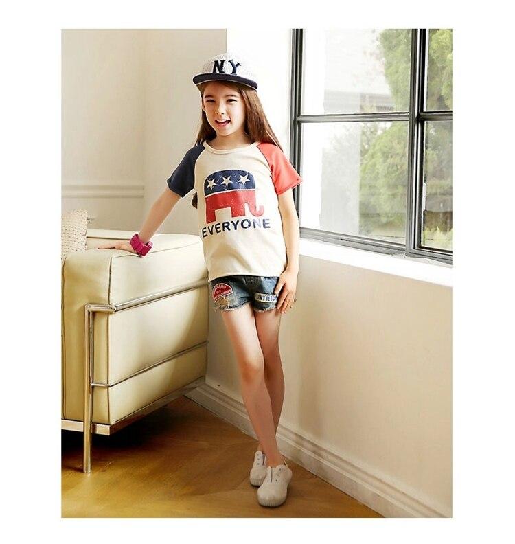 2015 Hot Selling Large Child T Shirt Short Sleeve Fashion Style 106  Cm on