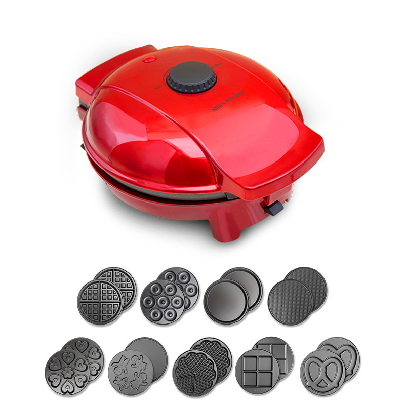220V Household Electric Waffle Maker Machine Multifunctional Donut Pancake Cake Waffle Machine High Quality EUAUUKUS plug