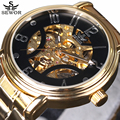 SEWOR Novo Número Projeto Do Esporte Montre Homme Bezel Ouro Relógio Mens Relógios Top Marca de Luxo Relógio Homens Relógio Esqueleto Automática