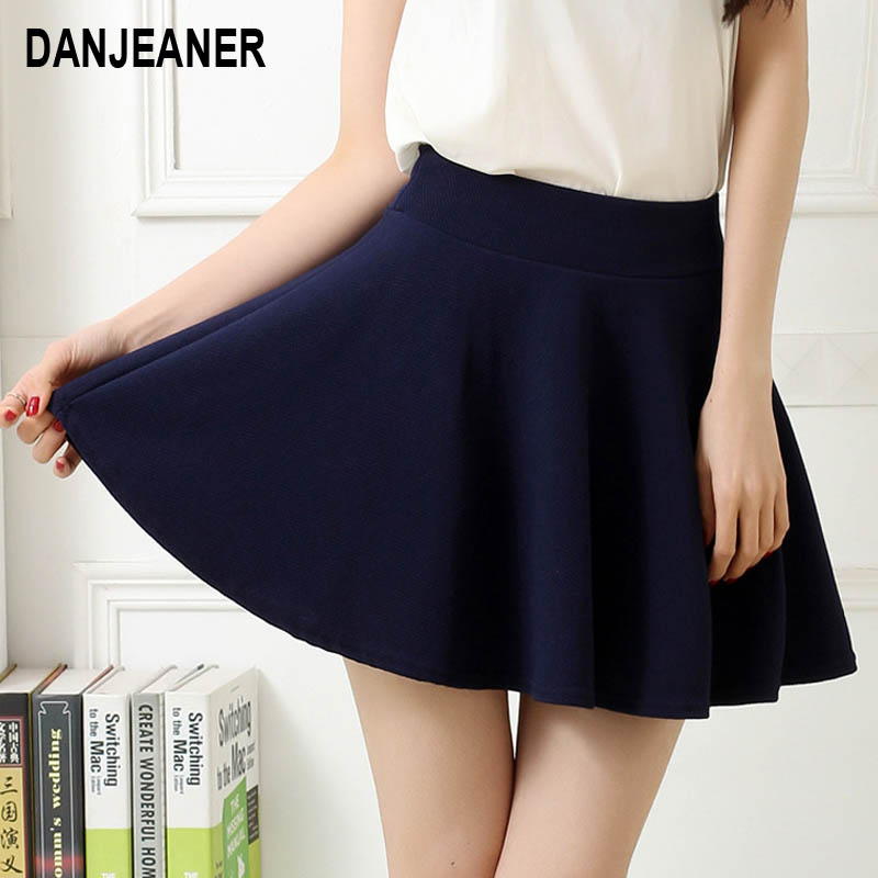 New Korean Style Womens A-line Pleated Skirt Mini  Summer  Fashion Style  Candy Color Above Knee SkirtC24