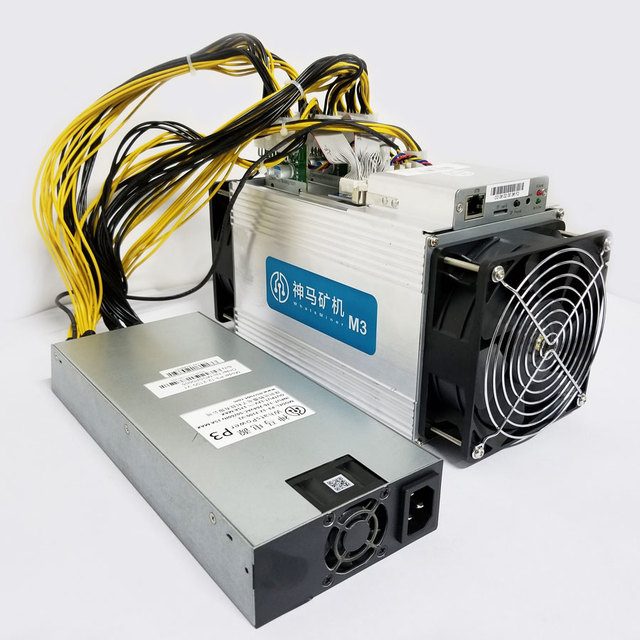 In Stock New Whatsminer M3 11.5T Bitcoin Miner ASIC BTC Mining Machine The Same Good As Bitmain Antminer S9 With Power Supply