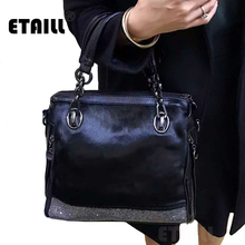 Diamond Rhinestone Horsehair Handbag Designer Bags Famous Brand Women Bags 2016 Luxury Crystal Horse Hair Women Messenger Bags