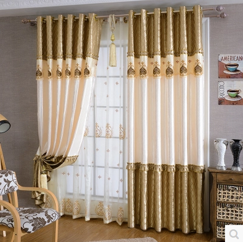 1PC Europe Embroidery Yarn Window Curtains For The Bedroom Fancy Adult  Modern Curtains For Living Room