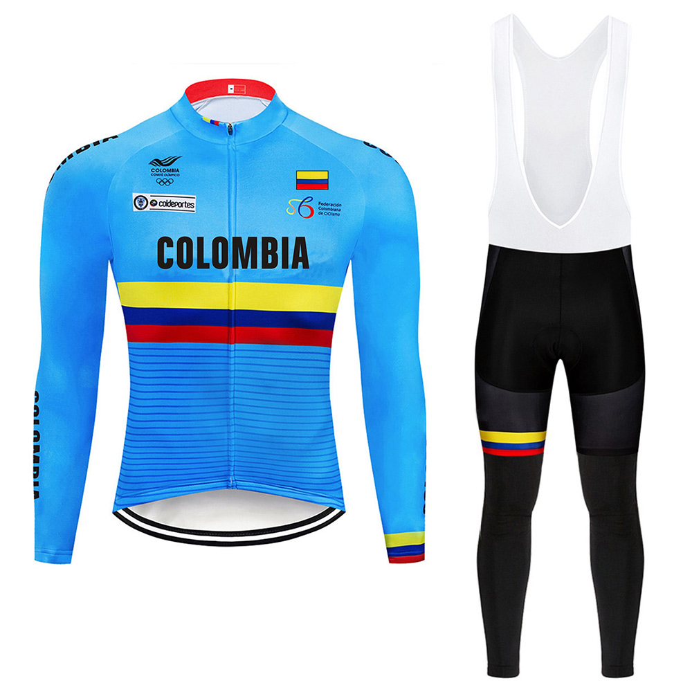 2019 Pro Team Colombia Cycling Jersey 9D Set Bicycle Clothes Bike Clothing Ropa Ciclismo MTB Breathable Mens Long Cycling Wear 2019 Pro Team Colombia Cycling Jersey 9D Set Bicycle Clothes Bike Clothing Ropa Ciclismo MTB Breathable Mens Long Cycling Wear