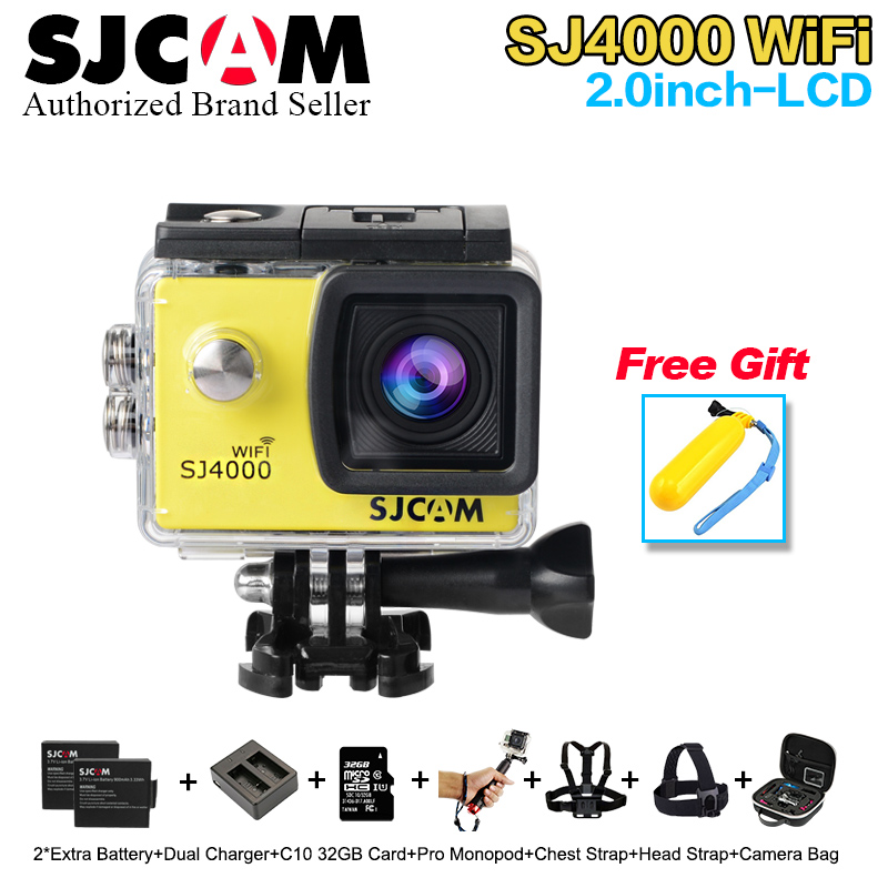 Newest Original SJCAM SJ4000 Wifi SJ4000 2 0 LCD Screen font b Action b font Camera