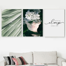 Surrealism Woman Flower Wall Art Canvas Painting Nordic Posters And Prints Wall Pictures For Living Room Scandinavian Home Decor surrealism