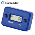 Runleader!(30pcs/lot)Digital Waterproof Inductive 2-4 Stroke Gasoline Engine motercycle ATV boat Motocross Racing Hour Meter