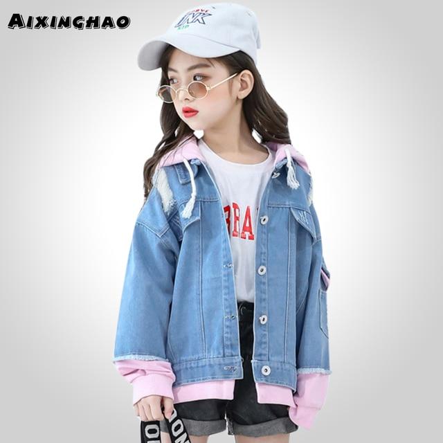 06daa6f9c Girls Jackets Denim Jacket For Girl Autumn Spring Children Outerwear ...